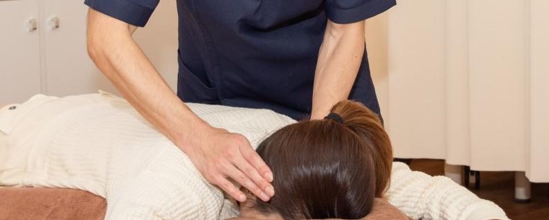 首の治療アップ